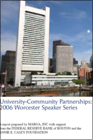 2006 Worcester Speaker Series Cover