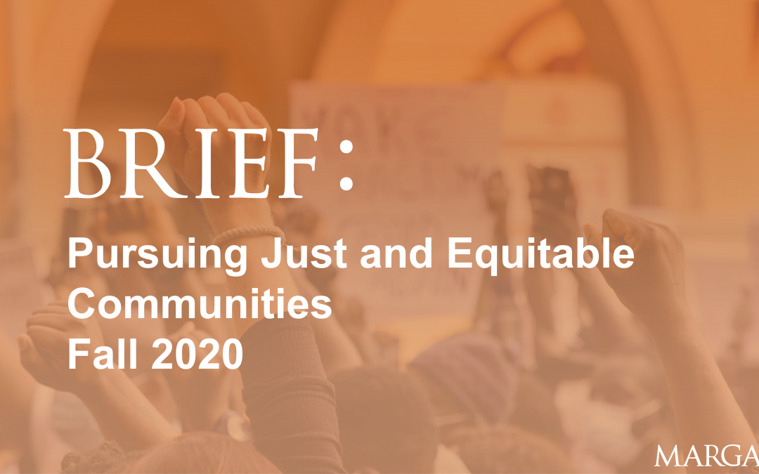 Pursuing Just and Equitable Communities
