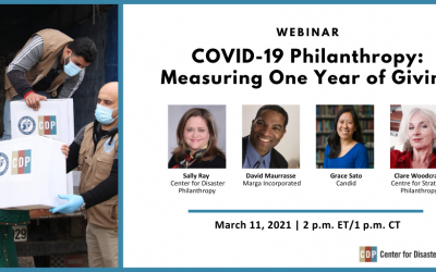David Maurrasse speaking at March 11 COVID-19 Philanthropy Webinar