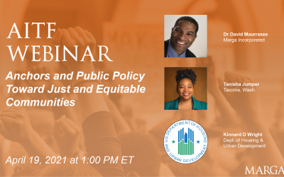 WEBINAR (April 19): Panel Announcement – Anchor Institutions and Public Policy Toward Just and Equitable Communities
